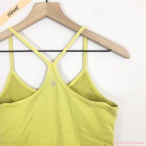 [Lululemon] Green/Yellow Power Y Tank Top